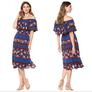 Democracy Drop Shoulder Midi Dress Southwestern